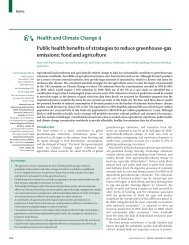 Public health benefits of strategies to reduce greenhouse-gas ...