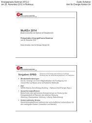 MuKEn 2014 - Energie Zentralschweiz