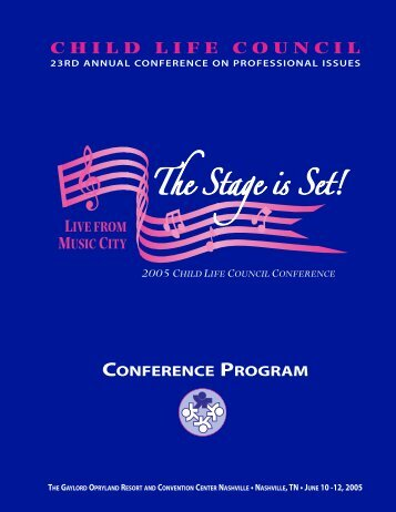 2005 Conference Program - Child Life Council