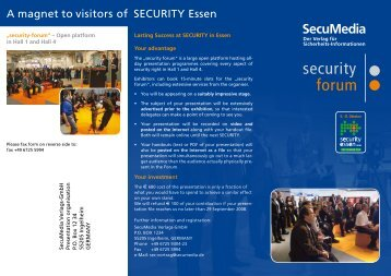 A magnet to visitors of SECURITY Essen - Security-Forum