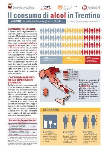 Il consumo di alcolin Trentino - Trentino Salute