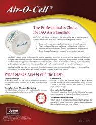 Zefon Air-O-Cell Cassette Brochure