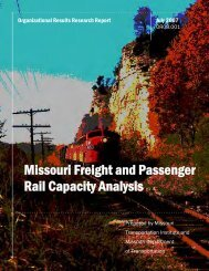 Missouri Freight and Passenger Rail Capacity Analysis