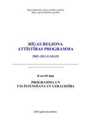 Rīgas reģiona attīstības programma - Rīgas Plānošanas Reģions