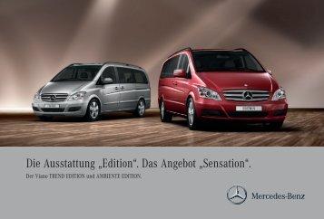 """Die Ausstattung """"Edition"""". Das Angebot """"Sensation""""."""