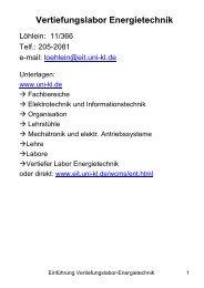 Vertiefungslabor Energietechnik - Fachbereich Elektrotechnik der ...