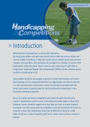 Junior Organisers Handbook: Handicapping ... - England Golf