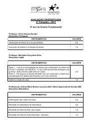 AVALIAÇÃO DIVERSIFICADA 2º Trimestre – 2011 8º ano do Ensino ...