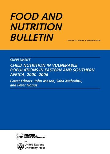 Download Food And Nutrition Bulletin PDF