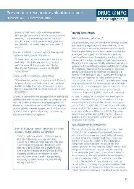 Full report [PDF: 185KB](new window) - DrugInfo - Australian Drug ...