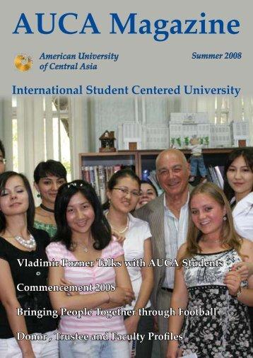 International Student Centered University - American University of ...