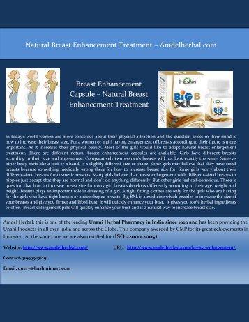 Amdel Herbal - Natural Breast Enhancement Treatment and Capsule