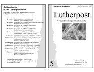 20. November 2005: Totensonntag 16. November ... - Lutherkirche Kiel