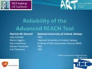 Reliability of the Advanced Reach Tool when used by health ... - BOHS