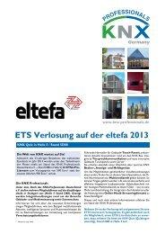 ETS Verlosung auf der eltefa 2013 - KNX-Professionals ...