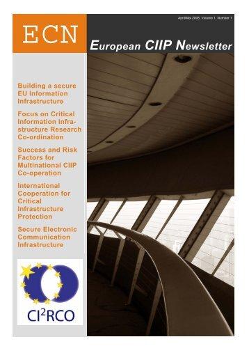 European CIIP Newsletter No 1.pdf - irriis