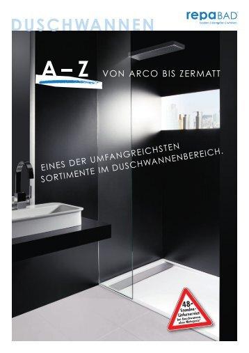 Broschuere Duschwannen - Meinbad24