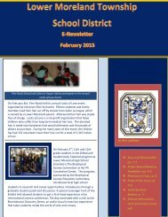February 2013 Newsletter - Lower Moreland Township School District