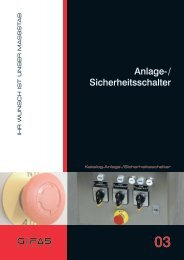 Anlage-/ Sicherheitsschalter - GIFAS Electric GmbH