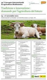 Programma - Sistema d'informazione nazionale sull'agricoltura ...
