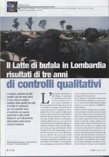 Il Latte di bufala in Lombardia - IZS della Lombardia e dell'Emilia ...