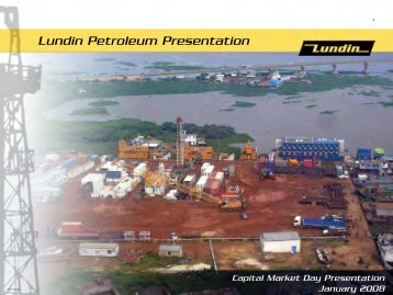 Capital Market Day - Intro & 2007 performance - Lundin Petroleum