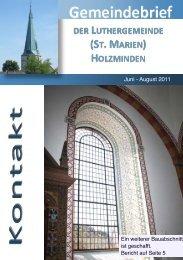 Orgelsommer 2011 - Ev.-luth. Kirchengemeinde Luther Holzminden