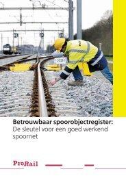 brochure Betrouwbaar Spoorobjectregister - ProRail