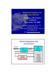 Dedicated Outdoor Air Systems (DOAS) Dayton ... - Dayton ASHRAE