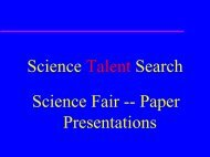 Science Talent Search - the Science Home Page