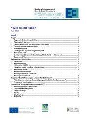 Newsletter Juni 2013 - Steirischer Zentralraum - STEBEP