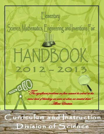 Science Fair Handbook - Miami-Dade County Public Schools