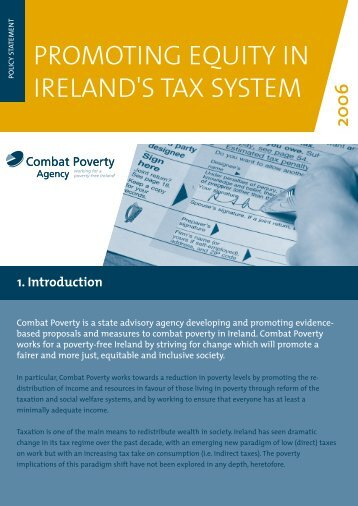Promoting Equity in Ireland's Tax System - Combat Poverty Agency