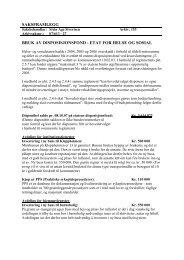 saksframlegg bruk av disposisjonsfond - etat for helse og sosial