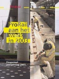 Financieel jaarbericht 2003 - ProRail
