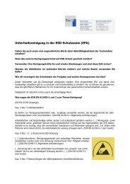 Unterhaltsreinigung in der ESD-Schutzzone (EPA)