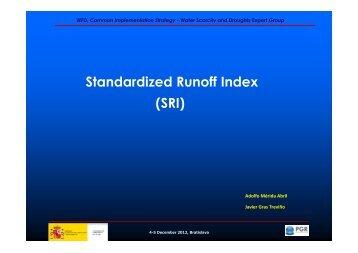 Standardized Runoff Index (SRI)