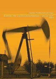 Rapport för Niomånadersperioden 2003 - Lundin Petroleum