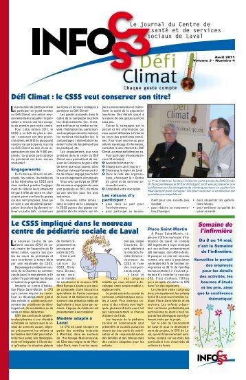 Volume 3 Numéro 4 - Centre de santé et de services sociaux de Laval