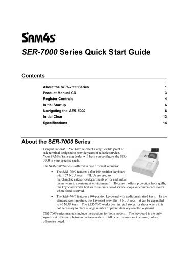 SER-7000 Series Quick Start Guide