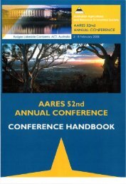 2008 Conference Handbook - Australian Agricultural and Resource ...