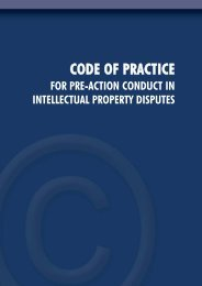 Code of Practice for pre-action conduct in intellectual ... - Reed Smith