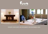 unsere highlights im november und dezember 2010 - Hotel Riva