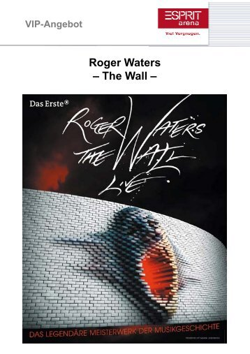 Roger Waters – The Wall - Bruder Franziskus präsentiert PINK FLOYD