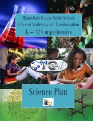 Science Plan - Miami-Dade County Public Schools