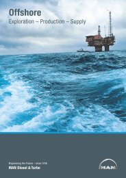 Offshore – Exploration, Production,  Supply - MAN Diesel & Turbo