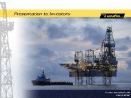 Presentation to Investors, March 2012 - Lundin Petroleum