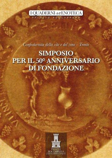 simposio per il 50° anniversario di fondazione - Palazzo Roccabruna