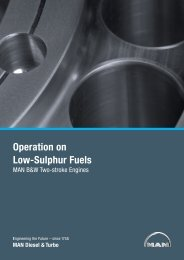 Operation on Low-Sulphur Fuels - MAN Diesel & Turbo