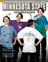 Minnesota State Colleges and Universities Magazine Spring 2008
